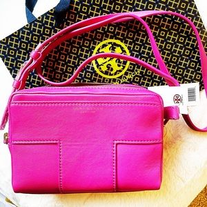 PINK TORY BURCH BLOCK T CROSSBODY